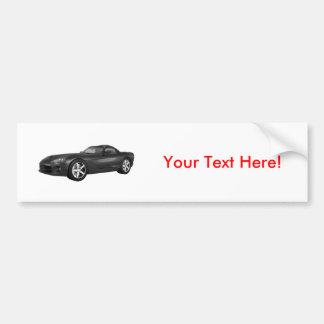 Viper Hard-Top Muscle Car: Black Finish Bumper Sticker