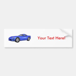 Viper Hard-Top Muscle Car: Blue Finish Bumper Sticker