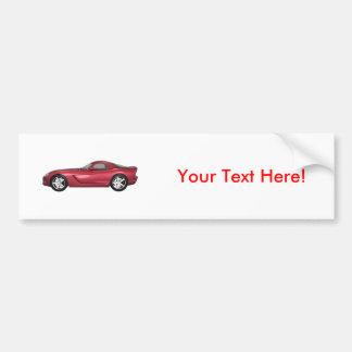 Viper Hard-Top Muscle Car: Candy Apple: Bumper Sticker