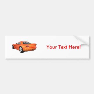 Viper Hard-Top Muscle Car: Orange Finish Bumper Sticker