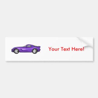 Viper Hard-Top Muscle Car: Purple Finish Bumper Sticker