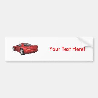 Viper Hard-Top Muscle Car: Red Finish Bumper Sticker