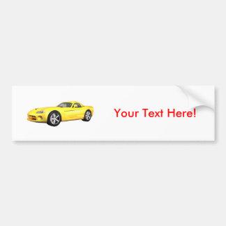 Viper Hard-Top Muscle Car: Yellow Finish: Bumper Sticker