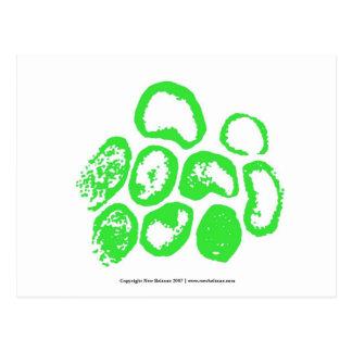Viral [Medium green motif] Postcard