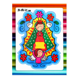 VIRGEN DE GUADALUPE CARICATURA 02 CUSTOMIZABLE PRO POSTCARD