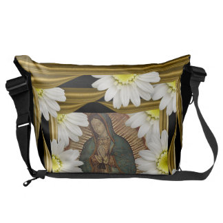 Virgen de Guadalupe (with daisies) Courier Bag