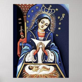 Virgen de la Altagracia Color Pencil Poster