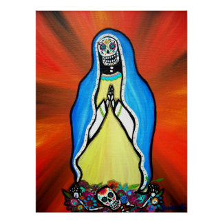 Virgen Guadalupe Day of the Dead Poster
