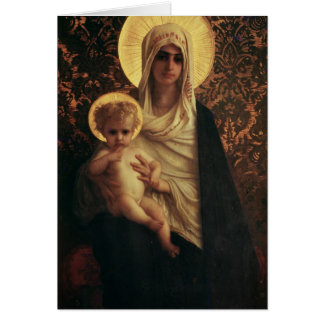Virgin and Child, 1872 Card