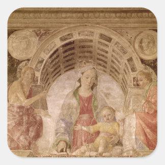 Virgin and Child 2 Square Sticker