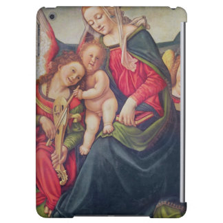 Virgin and Child and angel musicians iPad Air Cover