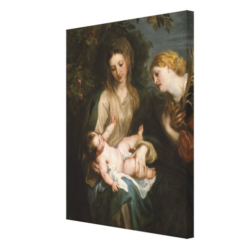Virgin and Child - Anthony Van Dyck Canvas Prints