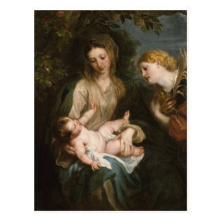Virgin and Child - Anthony Van Dyck Postcard