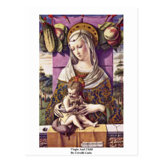 Virgin And Child By Crivelli Carlo Postcard