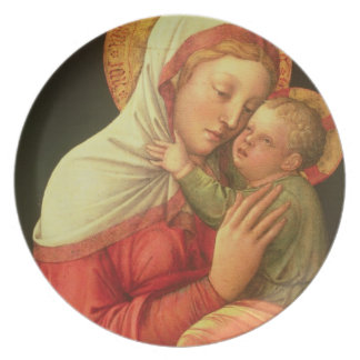 Virgin and Child, c.1465 (oil on panel) Plate