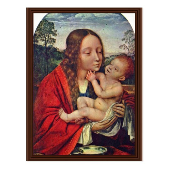Virgin And Child In A Landscape Postcard