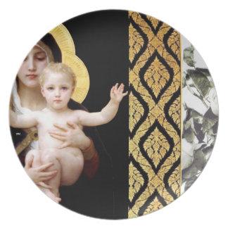 Virgin and child J2M Dinner Plate