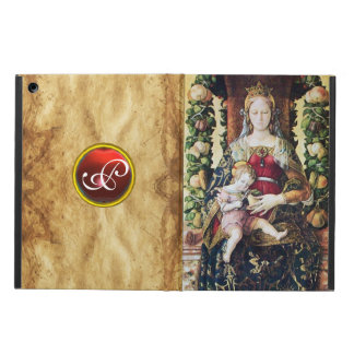 VIRGIN AND CHILD RED RUBY MONOGRAM,Brown Parchment iPad Air Covers