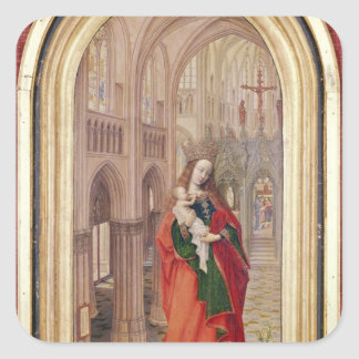 Virgin and Child Square Sticker