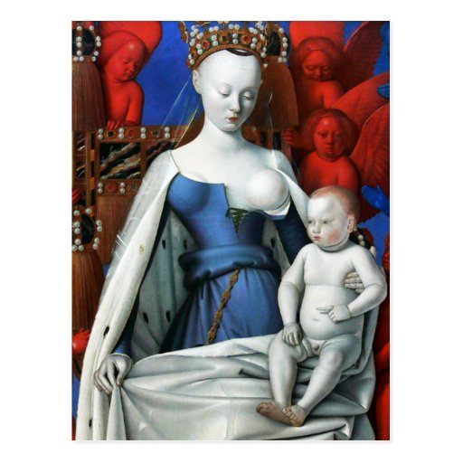 Virgin and Child surrounded by Angels - Fouquet Post Cards