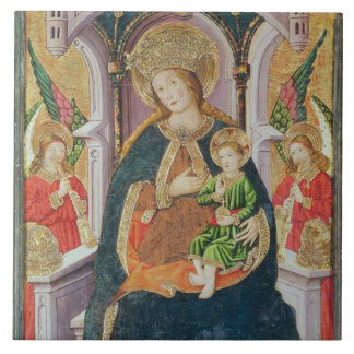 Virgin and Child with Angel Musicians Ceramic Tiles