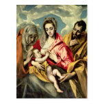 Virgin and Child with SS. Anne and Joseph Postcards