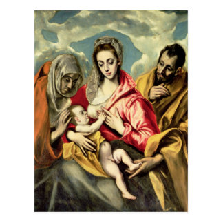 Virgin and Child with SS. Anne and Joseph Postcard