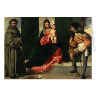 Virgin and Child with St. Anthony of Padua Greeting Card