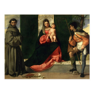 Virgin and Child with St. Anthony of Padua Postcard