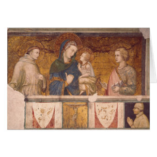 Virgin and Child with St. Francis and St. John Greeting Card