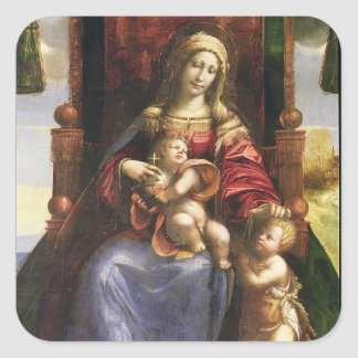 Virgin and Child with the infant St. John Square Sticker