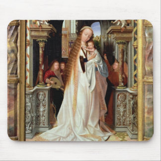 Virgin and Child with Three Angels, central panel Mouse Pad