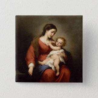 Virgin and Christ Child 2 Inch Square Button
