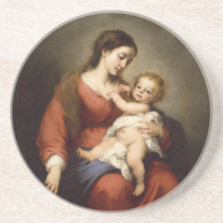 Virgin and Christ Child Coaster