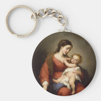 Virgin and Christ Child Keychain