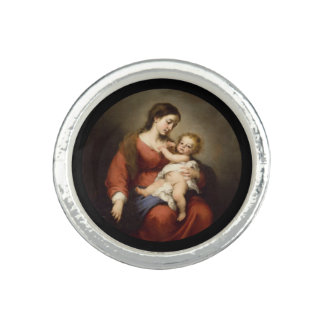 Virgin and Christ Child Photo Ring