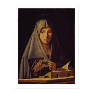 Virgin Annunciate (oil on panel) Postcard