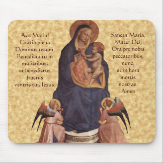 Virgin & Child, Ave Maria Mouse Pad