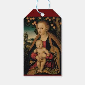 Virgin Child Under Apple Tree Cranach Gift Tags