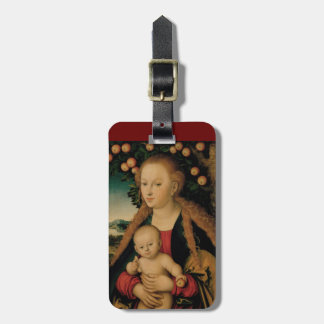 Virgin Child Under Apple Tree Cranach Luggage Tag