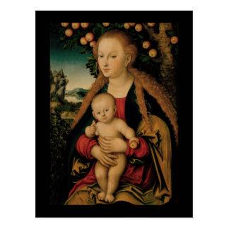 Virgin Child Under Apple Tree Cranach Postcard