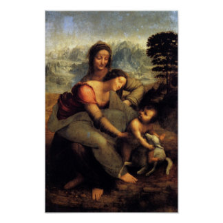 Virgin & Child w/ St.Anne & Lamb Poster