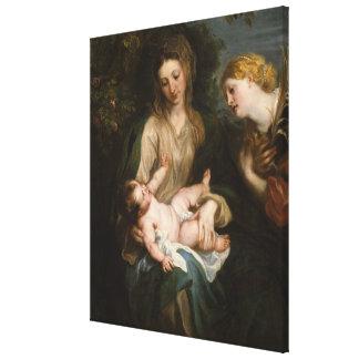 Virgin & Child with Saint Catherine of Alexandria Canvas Print