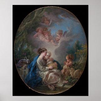 Virgin & Child with the Saint John the Baptist Poster