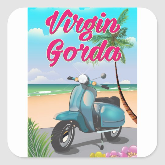 Virgin Gorda British virgin Islands Square Sticker