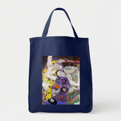 Virgin, Gustav Klimt Grocery Tote Bag