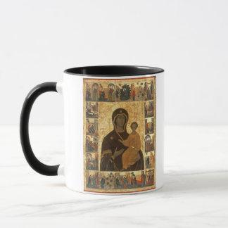 Virgin Hodegetria Icon of Smolensk, c.1450 (temper Mug