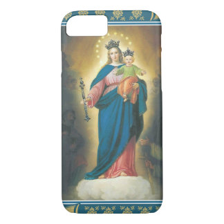 Virgin Madonna Mary with Christ Child Jesus Lily iPhone 7 Case