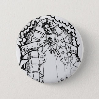 Virgin Mary 2 Inch Round Button
