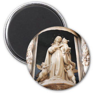 Virgin Mary 2 Inch Round Magnet